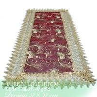 Taplak Meja Tamu Cantik Burkat Lace Import TBL017