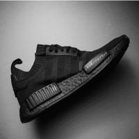Sepatu Sneakers Adidas NMD R1 Japan Full Black Premium Quality