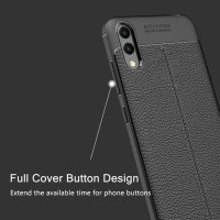 Case Leather Samsung Galaxy M10 Soft Auto Focus Kulit Cover Exclusive