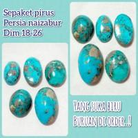 sepaket batu akik permata pirus Persia naizabur