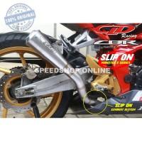 KNALPOT SLIP ON X MONSTER SERIES CLD RACING MOTOR SPORT 250 CC