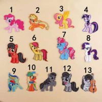 Iron patch my little pony 13 pcs import / bordir tempel IMPORT mlp lit