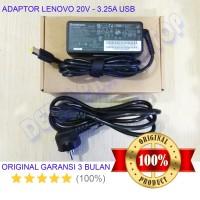 Adaptor Charger Laptop Original Lenovo Ideapad G40-30 20V-3.25 65W USB