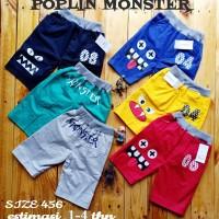 Celana Pendek Anak Poplin Monster