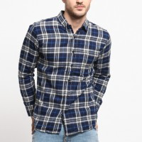 MENTLI Kemeja Flanel Pria Fain Flannel Shirt