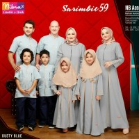 Baju Muslim Sarimbit Keluarga Nibras Family 59 Biru Setelan Couple