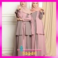Morza Maxi Dress Cardi / Baju Gamis Wanita Remaja Kekinian Terbaru
