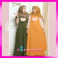 Frogi Maxi Long Dress Kekinian / Baju Gamis Remaja Muslim Terbaru