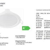 Promo Downlight LED Philips ERIDANI 7.5W - 59263 D150 Murah