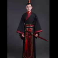 kostum hanfu chinese pria impor dewasa costum halloween party xl+topi
