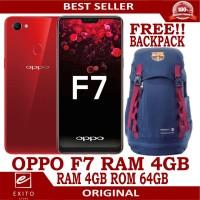 OPPO F7 RAM 4GB/64GB RED/SILVER/BLACK GARANSI RESMI 100% GIFT BACKPACK