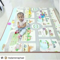 Grosir Karpet bayi PARKLON Rush Hour Korea Baby Playmat PE Roll Play M