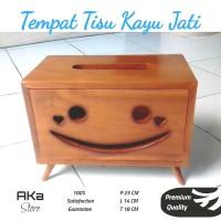 Tempat Tisu/ Tissue/Kotak Tisu Karakter Smile/Smiley Kayu Jati Jepara
