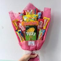 Snack Bouquet / Bucket Buket Bunga Snack / Kado Wisuda Graduation