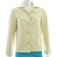 Blazer. Outerwear Wanita. Cream. Benetton-Size 38. Made In Italy