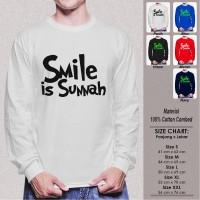 Kaos Muslim Panjang Pria SN-LLMSMY304 SMILE IS SUNNAH VERSI 2