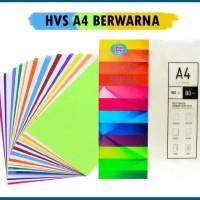 KERTAS HVS WARNA A4 80 GSM