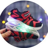 21-30 Led Sport Light Sepatu Anak Jalan - 26-30, Merah