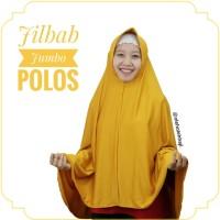 Jilbab Hijab Khimar Bergo Jumbo Syar'i Polos Dengan Pet Bahan Spandex