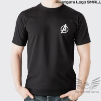 Kaos Avengers Logo Kecil Pria Premium Marvel Superhero ShinnShana
