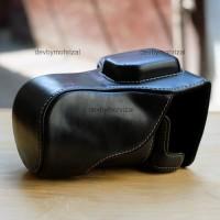 Leather Case Fujifilm X-A3 X-A2 XA-10 Tas Kamera XA3 XA2 XA10 Hitam