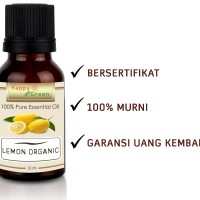 Happy Green ORGANIC Lemon Essential Oil (10 ml)- Minyak Jeruk Organik