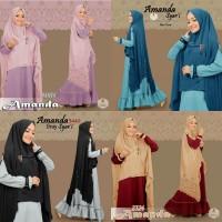 Baju gamis murah AMANDA SYARI BERGO BIG SIZE baju muslim wanita