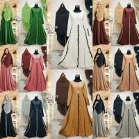 Baju gamis murah GAMIS HIJAB BIG SIZE baju muslim wanita