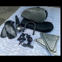 Paket custom japstyle bratstyle bobber tangki sen jok spakbor knalpot
