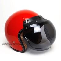 Helm Bogo Dewasa SNI - Full Cat Merah Glossy