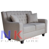 sofa 2 dudukan / sofa 2 seater cream