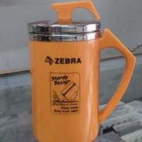 Mug Double Wall Zebra 450ml, Warna Orange dan Ungu Tua