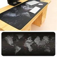 Mousepad Gaming Medium Motif Peta Dunia 60 x 30 cm - Black