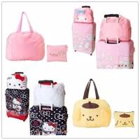 foldable bag tas lipat travelling koper motif sanrio