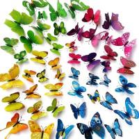 [V2] Stiker 3D Butterfly 12pc Kupu Hiasan Dekorasi Stiker Dinding Wall