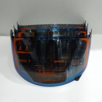 kaca helm flat/visor helm flat kyt rc7 r10 k2rider warna iridium blue