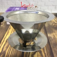 Latina V60 01 Stainless Dripper Double Mesh