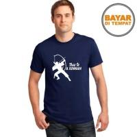 Kaos Distro / T-Shirt Pria / Baju All Size Sunnah Memanah - Hitam