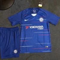 Baru Setelan Jersey Celana Chelsea Home Kids Premium Quality -