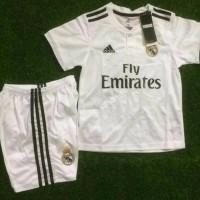 Baru Setelan Jersey Celana Real Madrid Home Kids Premium Quality -