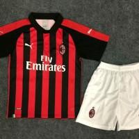 Baru Setelan Jersey Celana Ac Milan Home Kids Premium Quality -