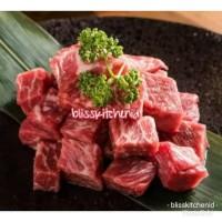 Saikoro Beef Wagyu Meltik Cubes Steak 2cmx2cm pack 250gr