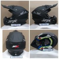 helm JPX cross JPX trail polos hitam doff