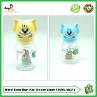 Botol Susu Bayi Karakter Macan Unik Lucu Zippy Dot Silikon 120ML OK219