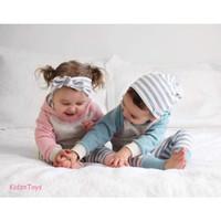 Baby Boys & Girls Sweat Clothes Hoodie / Setelan Set Hoodie Anak Cute