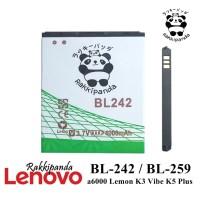 Baterai Lenovo A6000 Lemon K5 Plus BL242 BL259 Double IC Protection