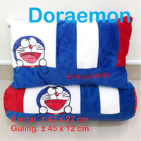 Bantal Doraemon Happy Day Set Bantal Guling Karakter Boneka Hadiah