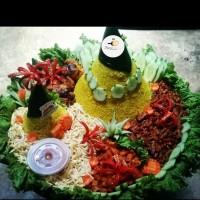 Tumpeng Nasi Kuning 2 tumpeng untuk 10 Orang