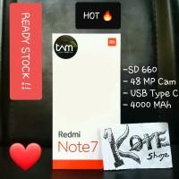 Xiaomi Redmi Note 7 Ram 4/64 GB Resmi TAM Black/Blue/Red Segel Baru