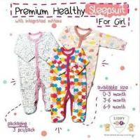 Sleepsuit tutup kaki Libby premium baju tidur piyama bayi 3- Terlaris